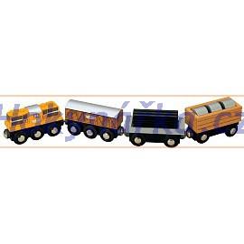 Maxim dřevěná mašinka nákladní vlaková souprava