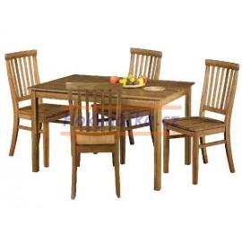 Jídelní sestava stůl a 4 židle masiv dub olej