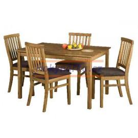 Jídelní sestava stůl a 4 polstr židle masiv dub olej
