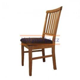 Jídelní židle D dřevěná masiv dub polstrovaná olejově mořená