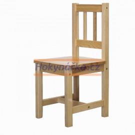 Dětská židle dřevěná lak masiv borovice
