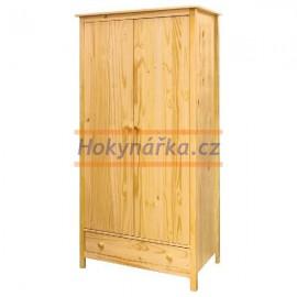 Šatní skříň 2 dveřeTORINO lak masiv borovice