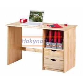 PC psací stůl malý lak masiv borovice
