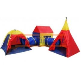 Dětské stany s tunelem látkové 5v1