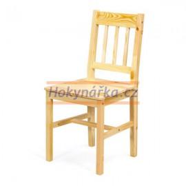 Jídelní židle Carolino lak masiv borovice