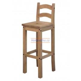 Barová židle Corona2 vosk masiv borovice