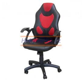 Kancelářská židle RACER houpací červená