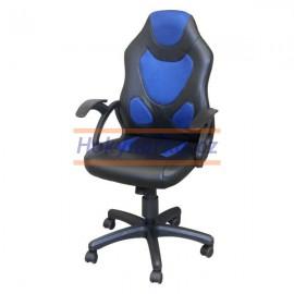 Kancelářská židle RACER houpací modrá