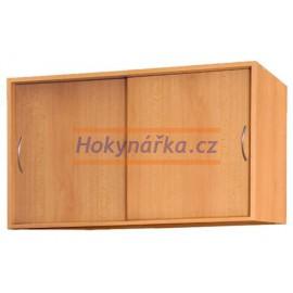 Nástavec na šatní skříň 2 posuvné dveře lamino buk