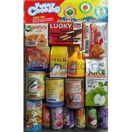 Potraviny do dětské kuchyňky jídlo