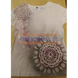 Tričko dámské L mandala 1 ručně barvené