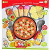 Potraviny sada kuchyňka pizza a sladkosti