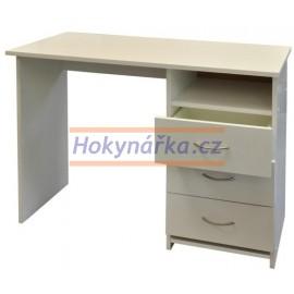Psací stůl 3 zásuvky lamino bílá