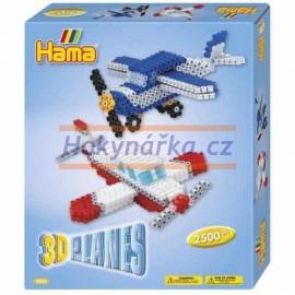 Hama sada 3D letadla zažehlovací korálky MIDI