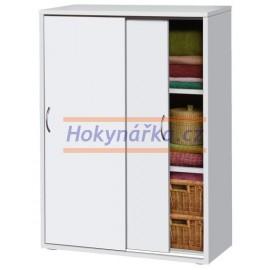 Komoda prádelník 2 dveře lamino bílá