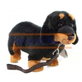 Plyšový pes Jezevčík 36cm