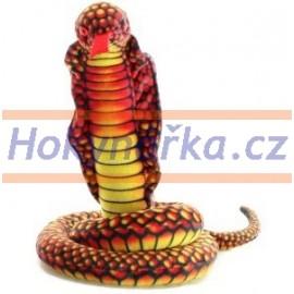 Plyšový had kobra 100cm
