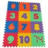 Pěnový koberec puzzle MAXI 12 čísla mix barev 8mm 30x30