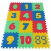 Pěnový koberec MAXI 12 čísla mix 4 barev 16mm pevný