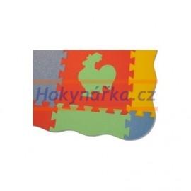 Pěnový koberec okraj vlna XL9 mix 6 barev 8mm