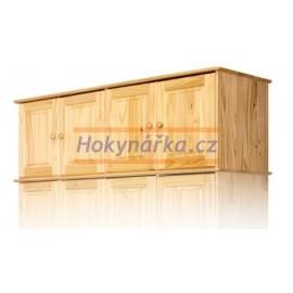 Nástavec na skříň 157 lak masiv borovice