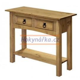 Odkládací stůl Corona vosk masiv borovice