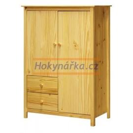 Prádelník Torino 2 dveře lak masiv borovice