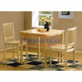 Jídelní sestava stůl a 2 židle kaučukovník