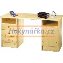 Psací stůl dřevěný lakovaný masiv smrk