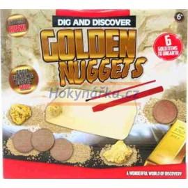 Tesání sada mince a zlato
