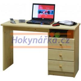 Psací stůl malý dřevěný lakovaný masiv smrk