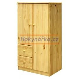 Prádelník 2 dveře borovice