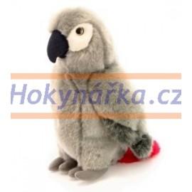 Plyšový Papoušek šedý 26cm
