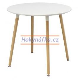 Jídelní stůl UNO kulatý 80 bílý