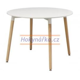 Jídelní stůl UNO kulatý 100 bílý