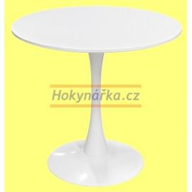 Jídelní stůl QUATRO kulatý 80 bílý