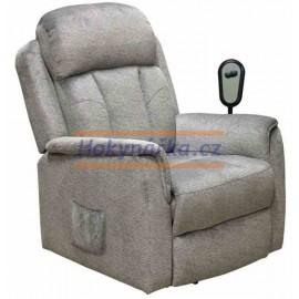 Relaxační polohovatelné křeslo Comfort šedé