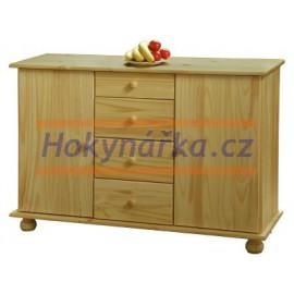 Příborník dřevěný lakovaný masiv borovice