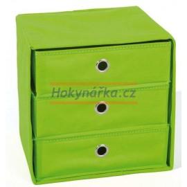 WILLY textilní skládací box zelený