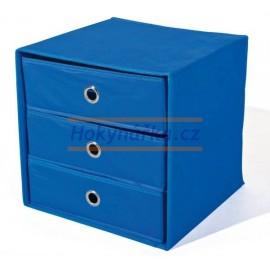 WILLY textilní skládací box modrý